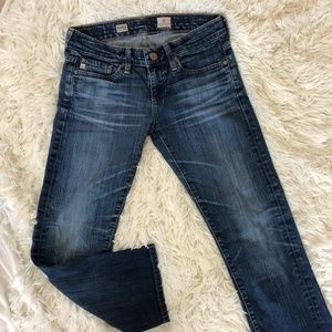 AG Tomboy Relaxed Straight Leg Crop Jeans Size 25R